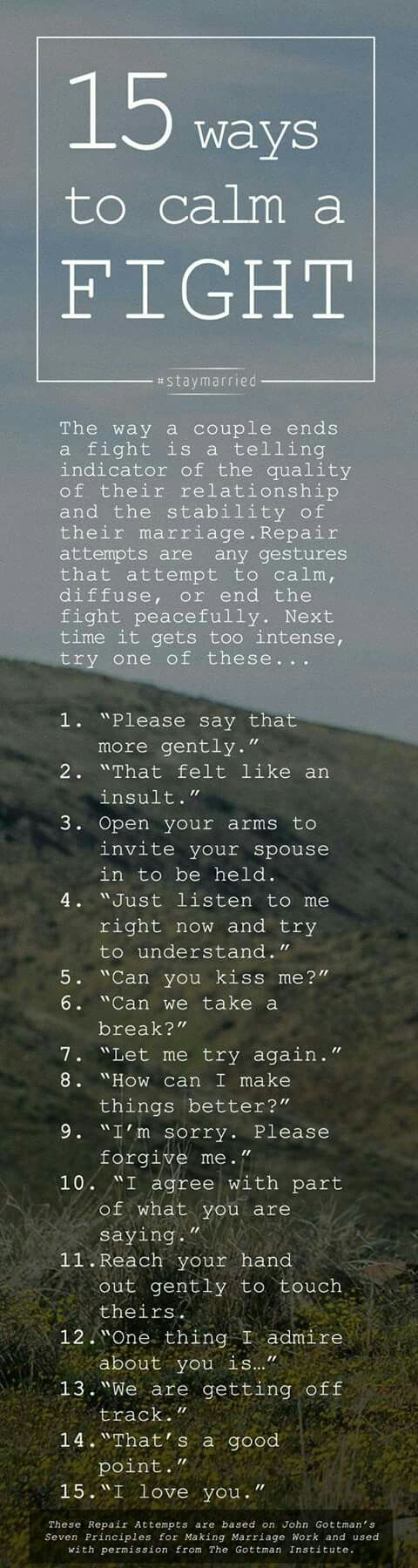 Somethings to say to defuse a fight...