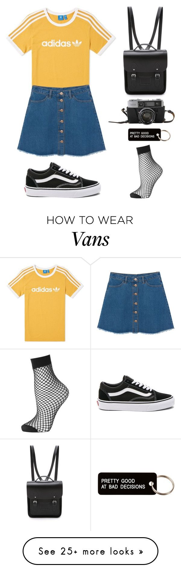 """Bad Decisions"" by yoitsmeg87 on Polyvore featuring adidas, Monki, Vans, The Cambridge Satchel Company, Topshop and Various Projects"
