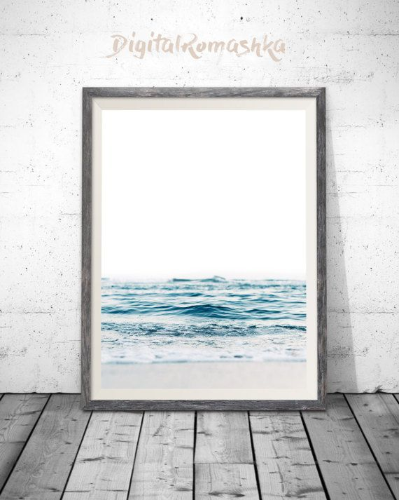 Ocean Print Sea Photography Ocean Water Wall Art Ocean Print Beach Decor Printable Download Modern Coasta Modern Coastal Decor Ocean Wall Art Ocean Print