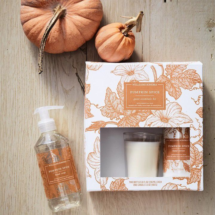 Pumpkin spice lovers! Good gift idea or for the guest room- has candle, lotion and hand soap! #aff