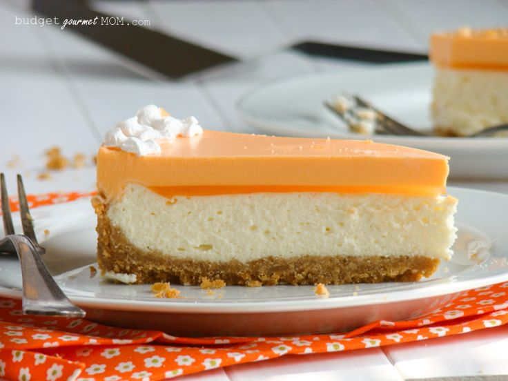 Orange Creamsicle Cheesecake - Budget Gourmet Mom