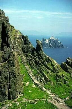 Stairway to heaven, Skelling Michael, Co. Kerry, Ireland