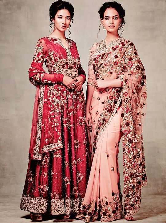 "Varun Bahl's Summer 2015 collection ""French floral story"" (Desi Bridal Shaadi Indian Pakistani Wedding)"