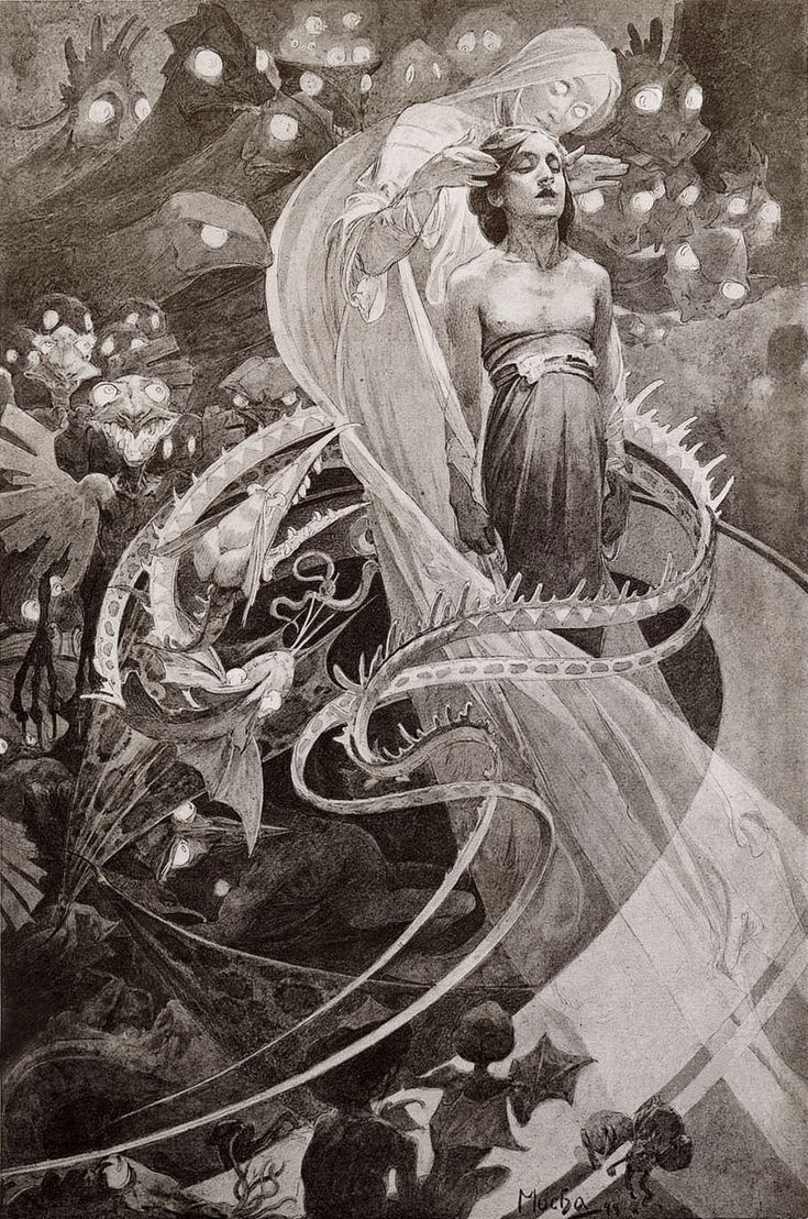 Alphonse Mucha, Lead Us Not Into Temptation