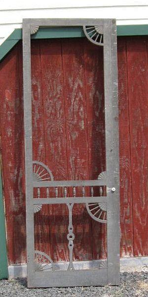 8' Antique Civil War Era Victorian Gothic Steamboat Country House Wood SCREEN DOOR