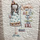 September Calendar Girls Block with Buttons