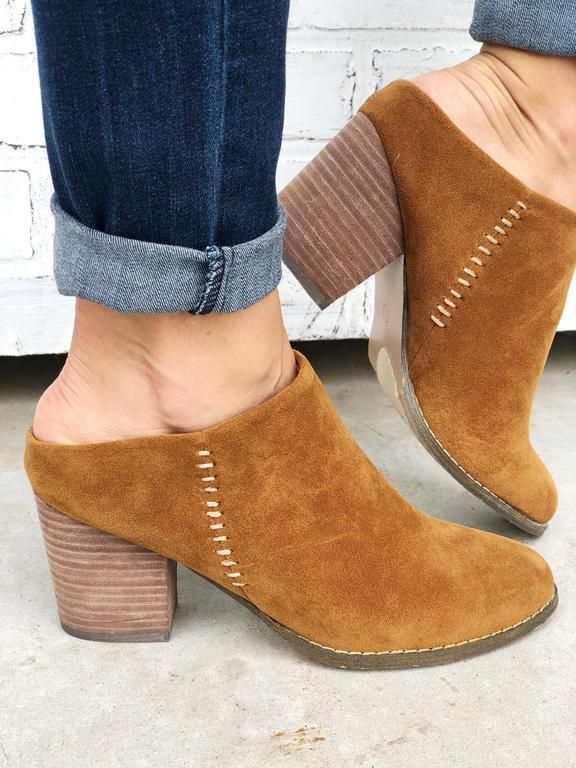 36e84ef22068e Suzie-Camel. Camel suede open back mules with side stitching detail ...