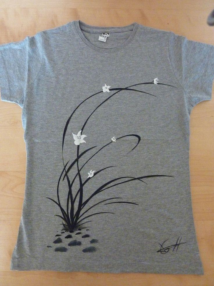 Zenmisetas orquídea silvestre, aquí la prueba de que TODAS son diferentes. http://www.artaliquam.com/20-zenmisetas #camisetas #tshirts