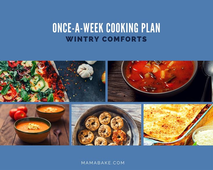 Once-A-Week Cooking Plan: Wintry Comforts