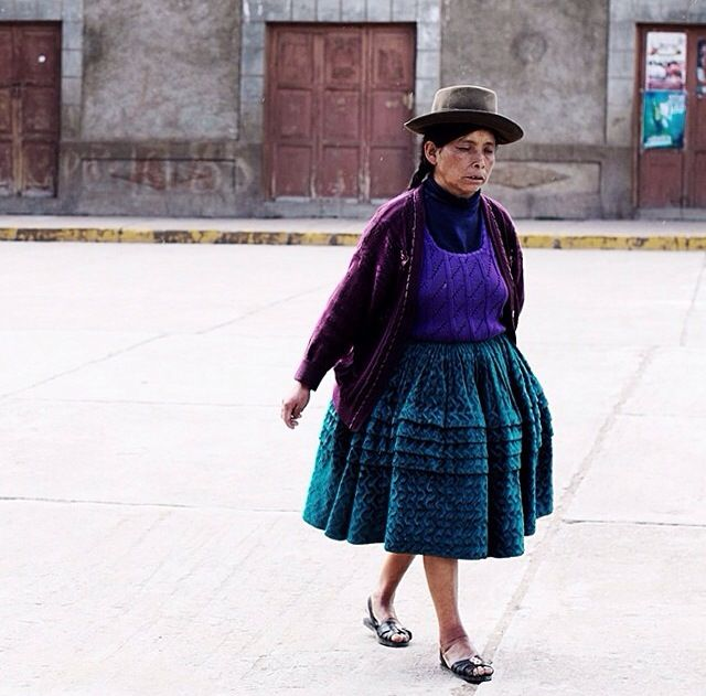 Forms // hat // wide skirt // thesartorialist