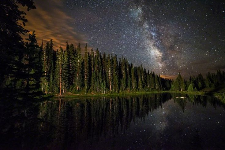 Lake Irene's Milky Way Mirror, Rocky Mountains National Park - Earth Science Picture of the Day