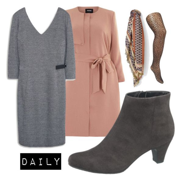 """daily"" by tiinaansorg ❤ liked on Polyvore featuring mode, Carmakoma, MANGO, plus en plussize"