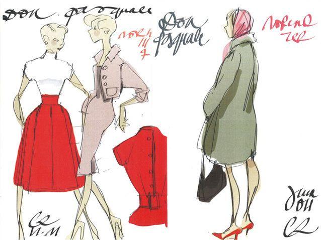 En avant première, les croquis des costumes de Christian Lacroix pour Don Pasquale (Actualité)   Opera Online - Le site des amateurs d'art lyrique