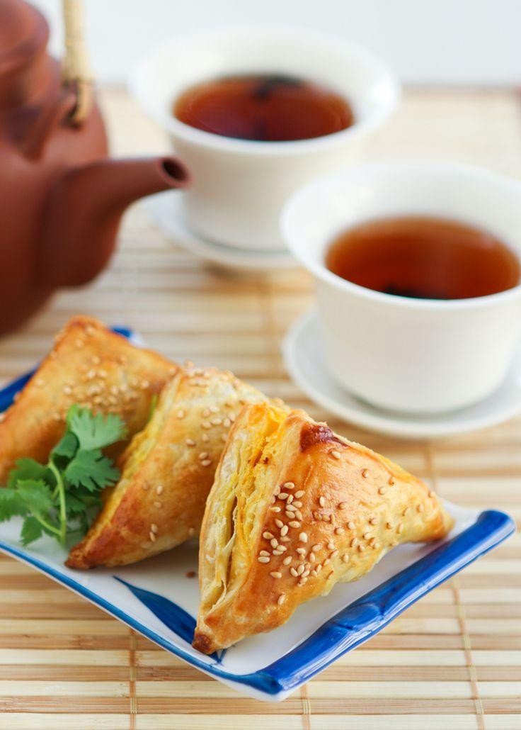 Dim Sum Recipe # 9: Chicken Curry Puffs   Thirsty for Tea