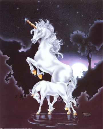 What is more beautiful than a unicorn?  A unicorn with a baby, of course. . . --EDK