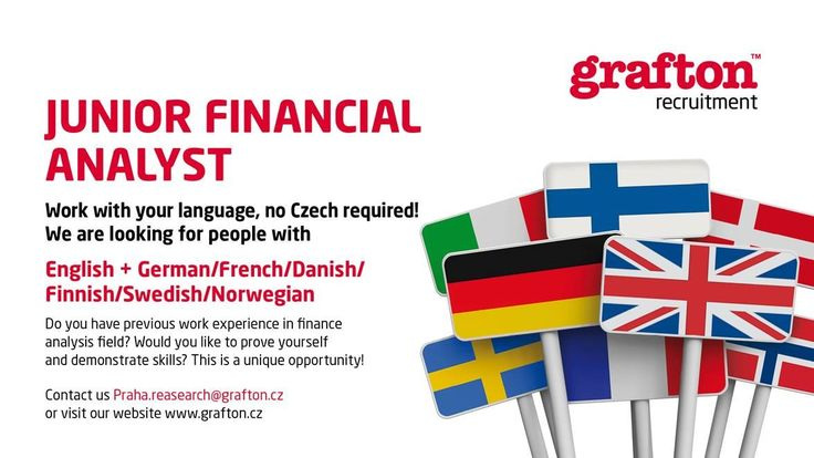PRAGUE JOBS - We are looking for Junior Financial Analyst ! Apply now!