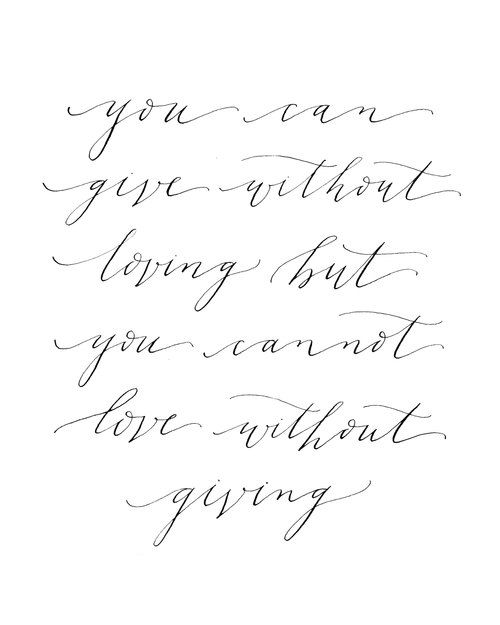 love without giving
