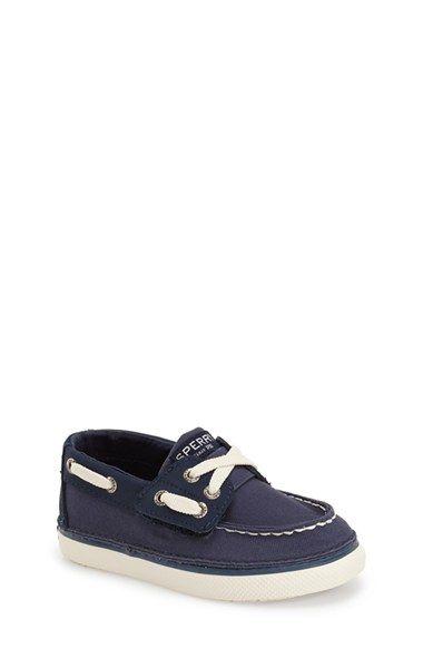 Sperry Kids 'Cruz Jr.' Slip-On Boat Shoe (Walker & Toddler) available at #Nordstrom