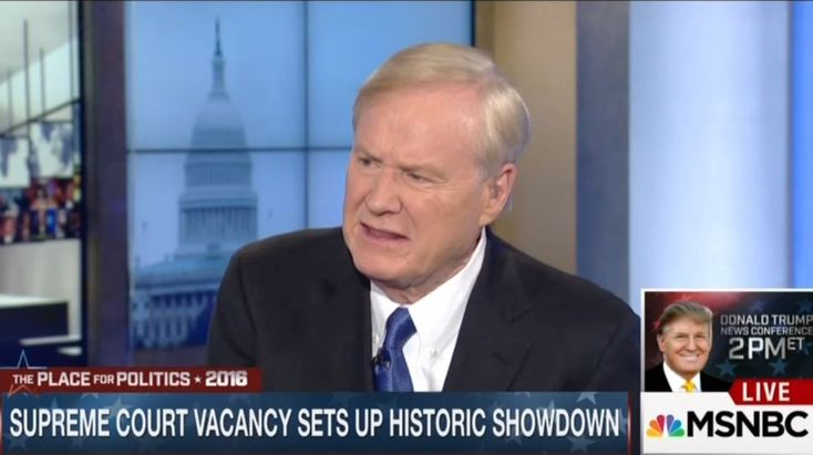 "02-15-2016  Appearing on MSNBC's Andrea Mitchell Reports on Monday, Hardball host Chris Matthews blasted Republican opposition to President Obama nominating a successor to Supreme Court Justice Antonin Scalia: ""...this almost indecent march to rejection here within minutes of the announcement of Judge Scalia's death....it was like a Dickensian scene in A Christmas Carol when Scrooge or somebody's died – dead and they come rushing in to take the sheets off the bed before he's dead."""