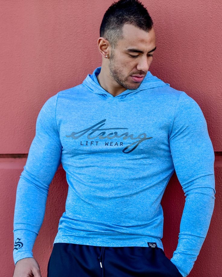 @strongliftwear FreeFlex Long Sleeve Tee- Electric Blue #fitness www.strongliftwear.com