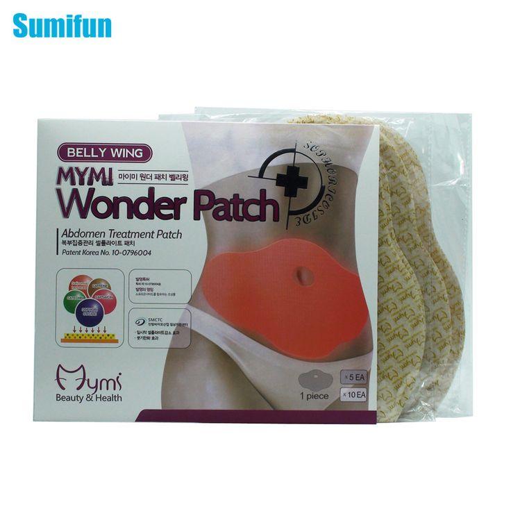 15Pcs MYMI Wonder Slimming Patch Belly Abdomen Weight Loss Fat burning Slim Patch Cream Navel Stick Body Massager C322