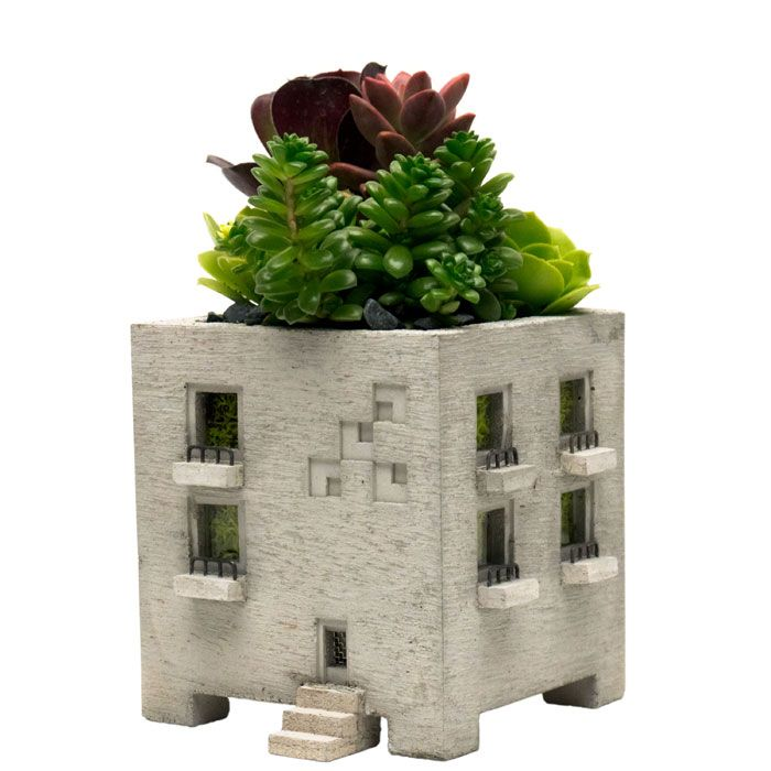 Miniature Concrete Apartment Planter