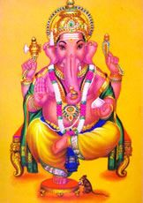 ガネーシャ。インドの神のおしゃれイラスト