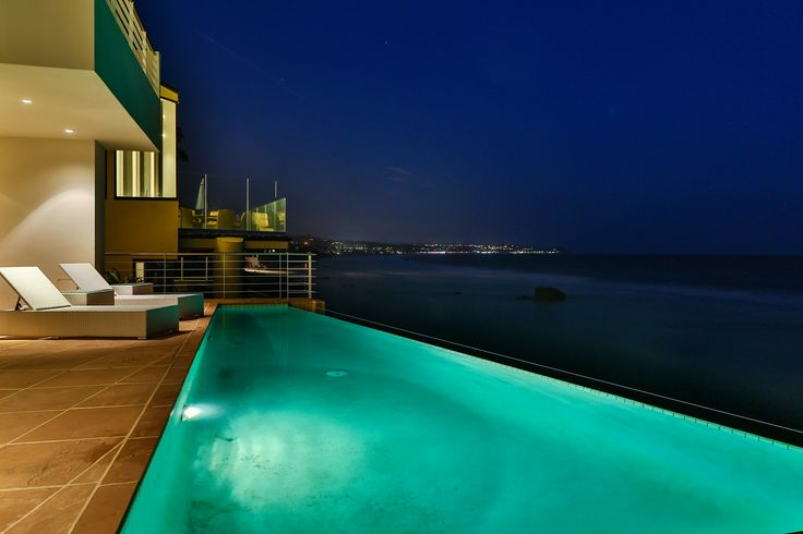 This Malibu home was just meant for taking a night swim!