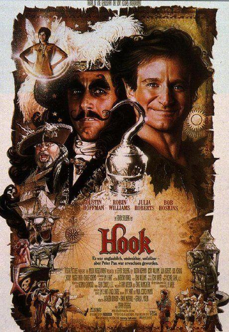 Hook (1991) Starring Dustin Hoffman, Robin Williams, Julia Roberts, and Bob Hoskins.