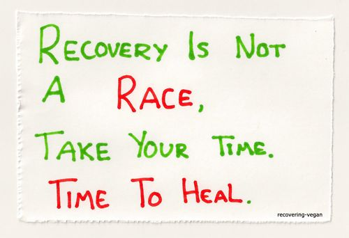 Recovery is not a RACE.Take your time.Time to HEAL. #weightloss #fitness #healthrelieve
