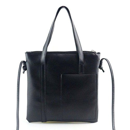 DEESEETM Women Handbag Shoulder Bag Large Tote Ladies Purse Black -- Find out more about the great product at the image link-affiliate link #CuteKorean Handbags