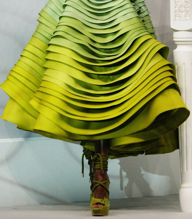 another pinner said she thought this looked like a tree...gave me a great idea!!!:): Fashion, Chartreuse, Style, Color, Christian Dior, Dress, Dior Haute, Lime Green, Haute Couture