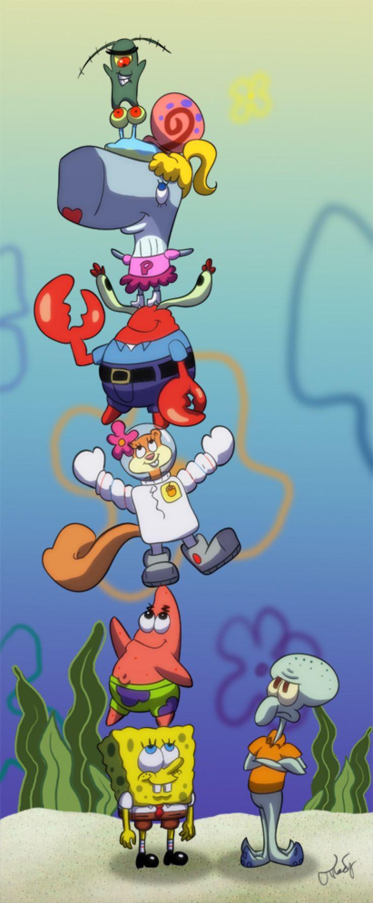 SpongeBob Stack by chesney on @DeviantArt