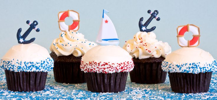 Nautical Cupcakes, by Trophy Cupcakes & Party