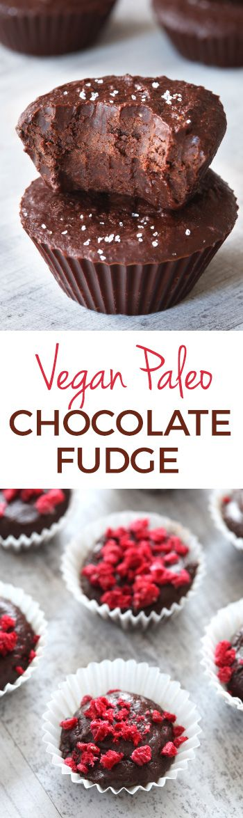 This paleo vegan chocolate fudge is slightly chewy + caramel-like and is virtually guilt-free (but doesn't taste like it)! Can also be made with butter for a more traditional version. Nut-free, grain-free, gluten-free and dairy-free.