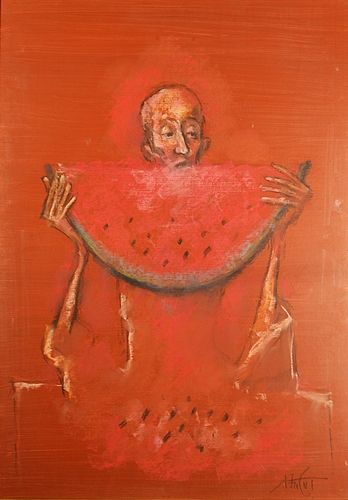 Ion Iancuț (1950 - ) Omul care mânancă pepene / The man eating watermelon