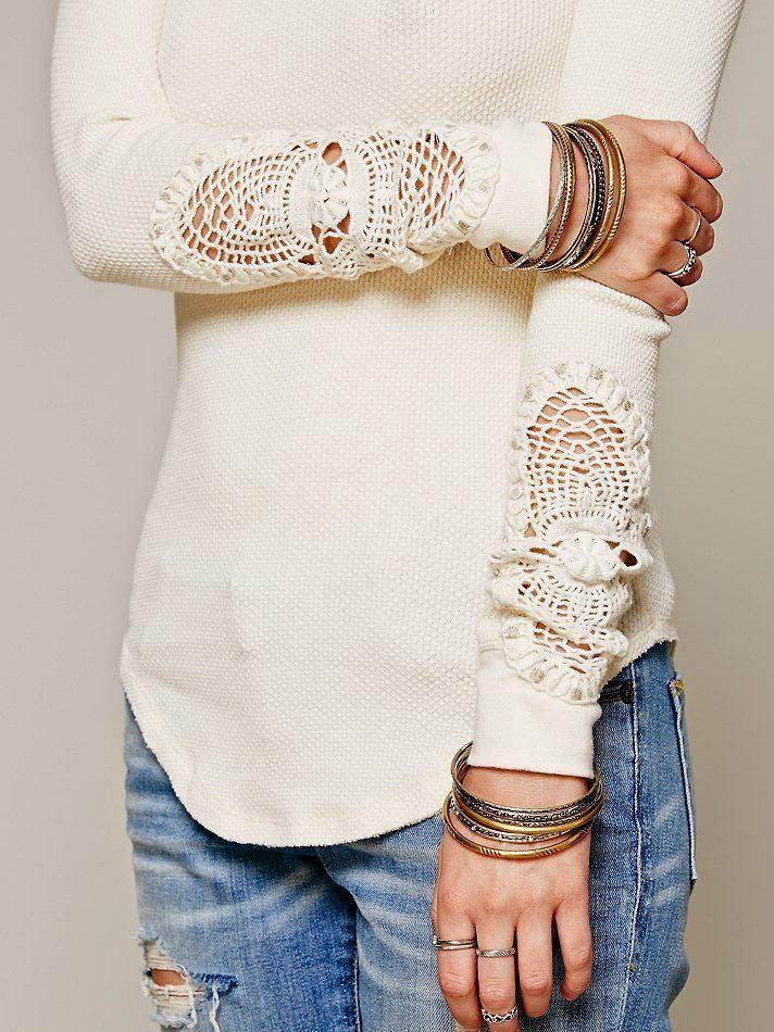 Letras e Artes da Lalá: Blusas customizadas (sem receitas)