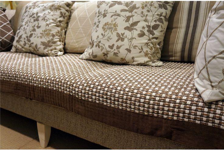 Алиса цвет кофе хлопчатобумажной ткани моды кожаный диван подушки подушки скольжения Continental суперобложка диван полотенце полное покрытие - глобальная станция Taobao