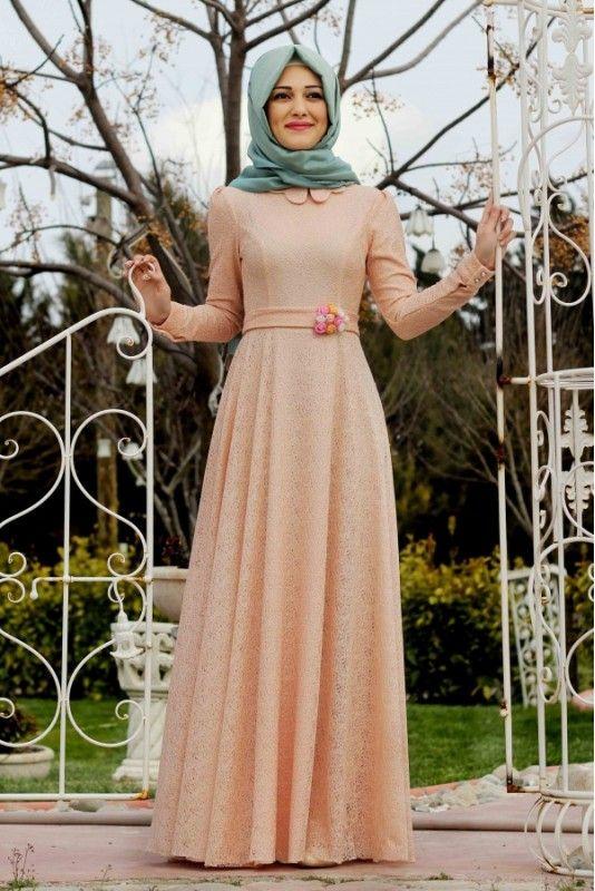 Masal Abiye Elbise - Somon - Gamze Polat