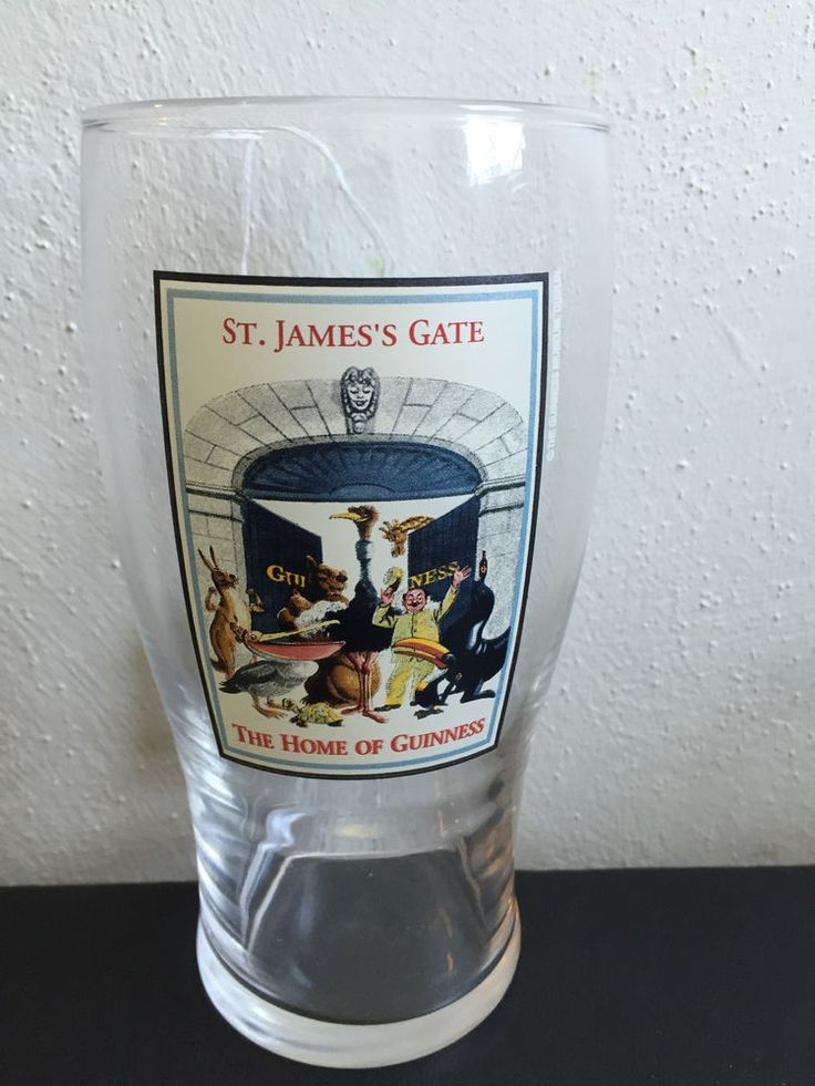 Vintage St. Jame's Gate Guinness Pint Beer Glass Dublin Ireland Oktoberfest