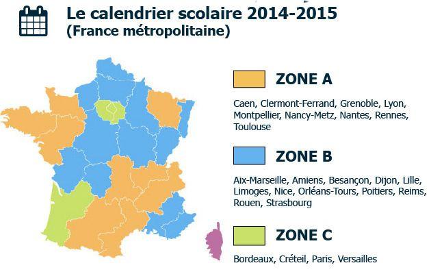 Zone de vacances 2016 => A partir du 1er janvier 2016, les 3 zones de vacances seront remodelées. Voici la nouvelle carte de France des vacances ! - http://etudiant.aujourdhui.fr/etudiant/info/zone-de-vacance-scolaire.html