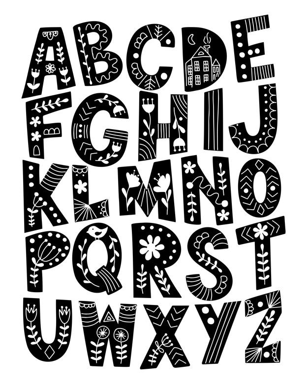 Hand Drawn Scandinavian Alphabet In 2020 How To Draw Hands Lettering Alphabet Typography Hand Drawn