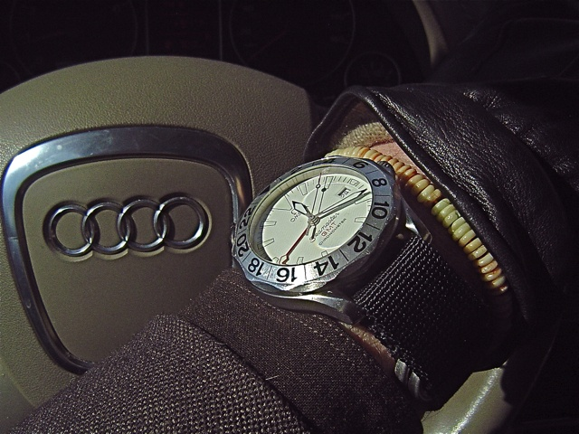 Omega GMT in the Audi