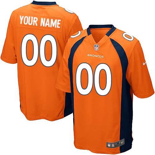 62f65c3a5 Nike Denver Broncos Customized Orange Stitched Elite Youth NFL Jersey