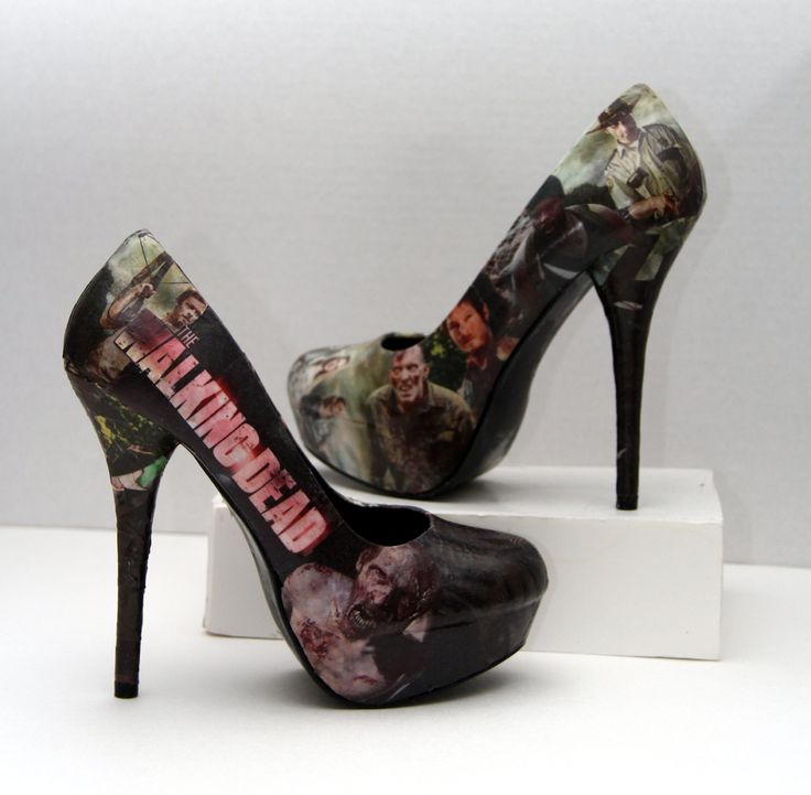 The Walking Dead Daryl Dixon Zombie High Heels  by custombykylee, $70.00