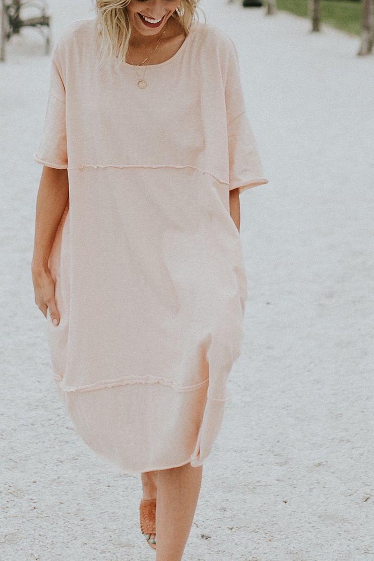 Light Blush Shift Dress   ROOLEE
