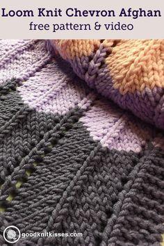 Loom Knitting An Afghan