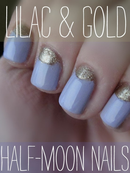 5 Must-Try Half-Moon Nail Ideas, As Found on Pinterest: Girls in the Beauty Department: Beauty: glamour.com