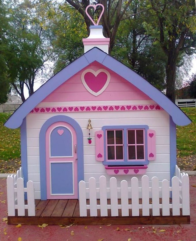 Casita para ni as playhouses for Casita madera jardin