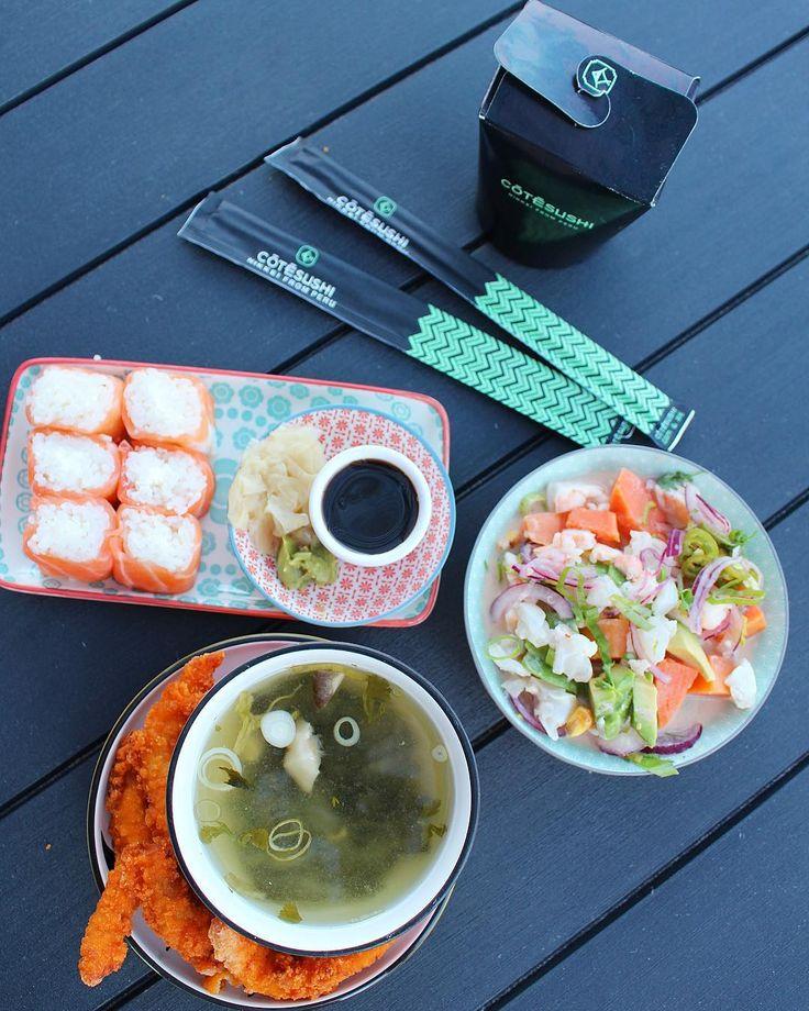 SUSHI TIME  ce soir c'est @cotesushi_france  enfin de bons sushis en livraison ... et qui livre ailleurs qu'en centre ville   -10% avec le code promo : PINTADE10  Restaurant  Spécialités japonaises ET péruviennes   offre valable partout en France  _____________ #cotesushi #sushi #japanfood #peruvianfood #blogfood #foodblog #pintademontpellier #montpellier #instafood #foodlover #soup #miso #ceviche #maki #california #nikkei #nikkeifromperu #salmon  #cotesushimontpellier #nikkeifood #codepromo…